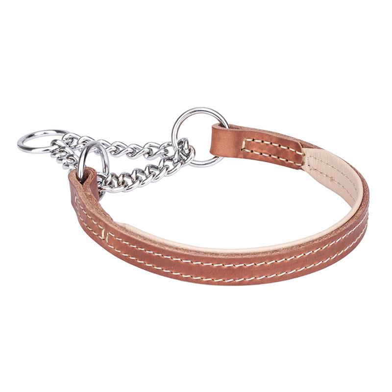 c1d581b7033b Collar semiahorque natural cadena cromada perros grandes «Perfectamente  apaciguado»